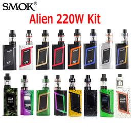 Original SMOK Alien Starter Kit 220W Alien Box MOD whit 3ml TFV8 Baby Beast Tank V8 Baby-Q2 Baby-T8 Coil 100% genuine DHL Free 2218044