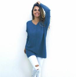 Senhoras jumpers casuais à venda-Casual nova camisola de outono slim 2016 V pescoço solta sólida 7 cores camisolas das mulheres e pulôveres knitwear jumper senhoras pulôver