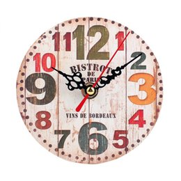 Wholesale CM Vintage Wall hanging clocks Quartz battery support Retro Style Silent Antique Wood Wall Clock England syle wall clocks