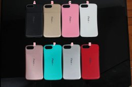 Wholesale 2017 New Iface Mall Colorful TPU PC Case For Iphone Plus Plus S SE S I7 Armor Anti Skid Carbon Fiber Grain Phone Skin Cover