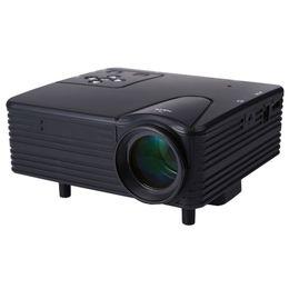 Acheter en ligne Pc hd-Vente en gros H80 Portable Mini LED LCD HomeTheater Game Projecteur Support PC Portable Full HD 1080P Vidéo AVI / MKV / DAT / MOV / MP4 / MPG / RM / RMVB