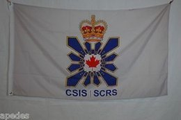Canada Canadian Security Intelligence Service Flag Personnalisé Etats-Unis USA Team Soccer College Baseball Football Hockey Flag Offre