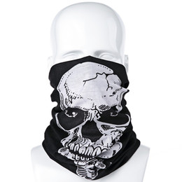 Wholesale Summer Multifunctional Skull Pattern Sun Protective Scarf Cycling Hoods Mask Outside Activity Supplies