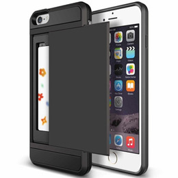 Wholesale Best iphone plus in case cover with slide card slot holder for Apple iPhone7 S S7 Edge defend case