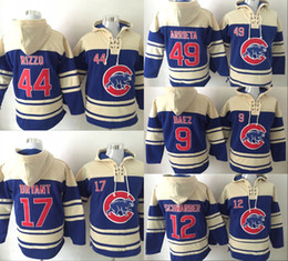 Wholesale New World Series Champions patch Chicago Cubs Hoodie Anthony Rizzo Kris Bryant Arrieta Kyle Schwarber Javier Baez Baseball hoodies