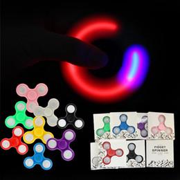 Wholesale MJJC LED lights handspinner luminous Hand Spinner fidget work Ultra Fast Bearings Finger Toy Great Gift for Children