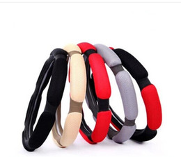 Wholesale Automotive steering wheel manufacturers selling the set Non slip breathable steering wheel cover sandwich the car set