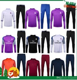 Wholesale Real madrid Training clothes Soccer Jersey Ronaldo football Modric Kroos Sergio Ramos Bale james Training Wear