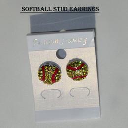 Wholesale 2017 sports earring baseball softball volleyball basketball football soccer Skates helmet bowling bicycle earring style