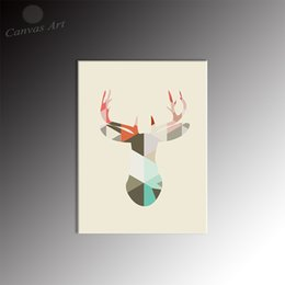 Home Decor Canvas Picture Modern Nordic Animal Deer Painting Giclee Printed on Canvas for Living Room
