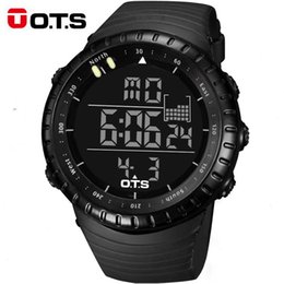 Wholesale OTS Outdoor Waterproof Large Dial Sports Digital Watches Men s Fashion M Professional Swimming Luminous LED Light Wristwatches