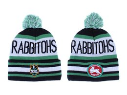 Wholesale NRL Teams Beanie Hat South Sydney Rabbitohs Beanies Knit Sports Hats Online For Sale Wool Caps Winter Cap