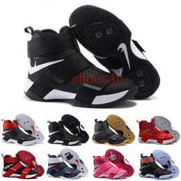 Wholesale With Box Drop Cheap High Quality Lebro Soldiers LB Men s Basketball Shoes LBJ X Jam Black Gold Sneakers