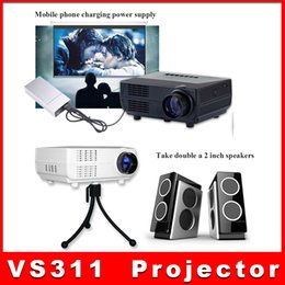 Wholesale VS311 Digital Mini LED Projector Full HD Multimedia p Mini Projectors LCD For iPhone s plus iPad MP3 Video Camera TV PC