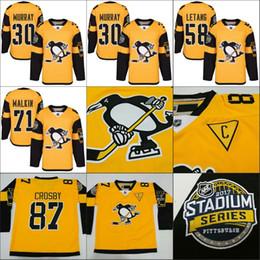 2017 Stadium Series Hommes Pittsburgh Penguins 87 Sidney Crosby Evgeni Malkin Kris Letang Matt Murray 81 Phil Kessel jersey de hockey cousu à partir de série de hockey fabricateur