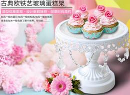 Supports métalliques pour le verre en Ligne-Base de fer de fer Base de verre Cake Pan, assiette de fruits, Dessert Displaya plaque