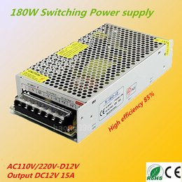 Wholesale Aluminum Shell DC12V A Switch Power Supply AC110V V to DC12V W Driver Transformer for Industry Equipments LED Lights LED Display