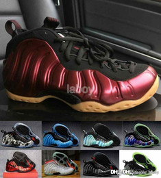 Wholesale 2017 Cheap Penny FOamPOSIteS One galaxy Mens Basketball Shoes Red High Quality foamPOSITE Sports Shoes hardaway Penny Sneakers US