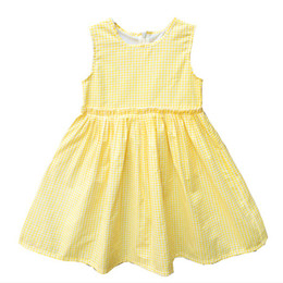 Kseniya Kids New Girls Dress European Style Baby Princess Dress Baby Girls Clothes Cotton Baby Girl Children Yellow Cute Dress