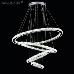 VALLKIN® DIY LED Pendant Lights Chandeliers Lamps Lighting K9 Crystal Hanging Lighting Fixtures For Dining Room Hotel with AC100 to 240V