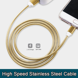 Wholesale USB cable best micro usb charging cable stainless steel A high speed sync data charging usb chargers for samsung s7 high quality