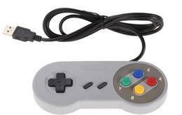 Venta al por mayor de juegos retro para SNES USB atado con alambre controlador de joystick clásico GamePad para PC de Windows Seis botones digitales desde joystick usb proveedores