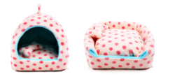 Wholesale Adjustable Colorful Dots Design Soft Warm Breatheable Fabric Dog Kennels Pet bed Cat House Hideaway Pet Nest S M L