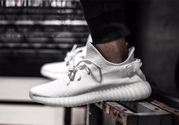 Wholesale Kanye design advance release real boost sply v2 TRIPLE WHITE sneaker men women shoes CP9366