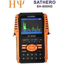 Satero original SH-800HD DVB-S2 Medidor digital del buscador basado en los satélites SH-800 USB2.0 HD Salida Sat finder HD con el analizador del espectro desde buscador hd sathero proveedores