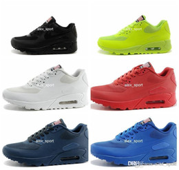 Wholesale Air HYP PRM QS Men Women Running Shoes Air s Hyper fuse American Flag Black White Navy Blue Gold Silver X A M Sport Trainers
