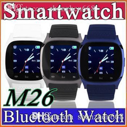 2016 Bluetooth M26 SmartWatch With LED Display Sports Watch Touch Screen Smartwatch WristWatch For iPhone IOS Samsung Android Phone G-BS