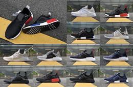 NMD Runner XR1.5 Primeknit OG Black Triple White Nice Kicks Circa Knit Men Women Running Shoes Sneakers Originals Classic Casual Shoes