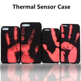 Wholesale Thermal Sensor Phone Case For iPhone Luxury Physical Thermal Discoloration Induction Cover Soft Cases For iPhone7 S Plus