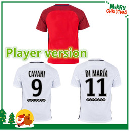 Wholesale Player version shirt T SILVA CAVANI DI MARIA PASTORE Verratti Matuidi seasons custom jersey