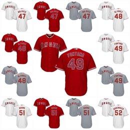 Wholesale 2017 Los Angeles Angels Jersey Ricky Nolasco Josse Alvarez Nolan Fontana Austin Adams Matt Shoemaker Coolbase Baseball Jersey