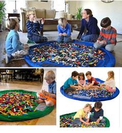 Promotion stockage pour les jouets Lego Toys Organizer tapis de jeu pour bébés tapis de jeu pour bébés sac de rangement pour jouets sac de rangement pour jouets portatifs Rug Boxes new