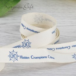 Wholesale 5 mm grosgrain ribbon suppliers printed brand ribbon logo designed by yourself for chocolate wedding favors yards