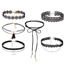 European and American fashion retro charm Choker necklace jewelry line circle suit chokers chain jewelry multiple set optional free shipping