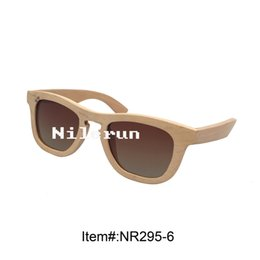 brown polarized lens light color real solid wood sunglasses
