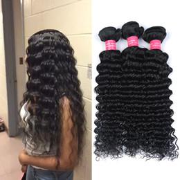 Promotion 24 profonds faisceaux de cheveux bouclés 4Bundles Extension brésilienne des cheveux bouclés aux cheveux Cheveux humains brésiliens 100g Bundles Mink Brazilain Cheveux vierges Deep Wave