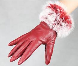 leather gloves fur fringed 5 fingure glove skin gloves LEATHER GLOVES 12pairs lot