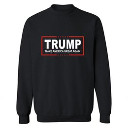 Wholesale BAPE Trump Hoodie Donald Trump Breathable Anti shrink long sleeve pullover O Neck cotton Letter Men s shirt for US President