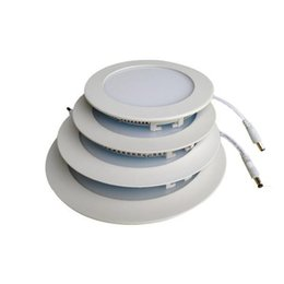 Recessed LED Lights 9W 12W 15W 18W 24W Ultrathin Round LED Panel Lights SMD2835 Downlight PWM dimmable Ceiling Lights Nature Warm Cool White