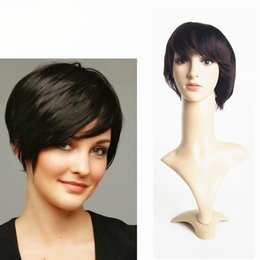 Cheap Hairstyles Short Lace Front Wigs Human Hair Brazilian Human Hair short 6inch Straight Machine Made Lace Front Wig