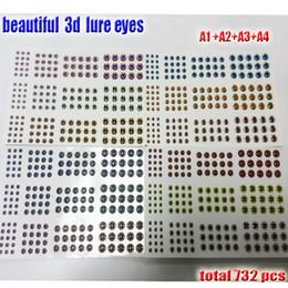 2017new que pesca el señuelo 3d eyes el proceso de caída perfecto que los mejores ojos de pescados clasifican: 3-4-5-6MM quntily: 732pcs / lot desde proceso de pesca fabricantes