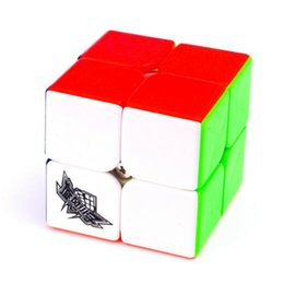 Cubo mágico 50mm Cyclone Boys 2x2x2 liso sin etiqueta Speed Cube 2x2 colorido rompecabezas juguetes para niños juegos niños regalos DHL desde niños juegos niños fabricantes