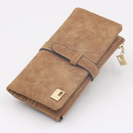 Ladies purse, Korean style, Korean style zipper, large capacity folding frosted wallet, wallet, hand bag