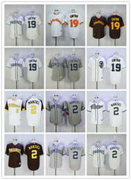 2017 johnny manziel jerseys Tony Gwynn Jersey Johnny Manziel San Diego Padres Maillot de baseball Flexbase Coolbase Throwback Cooperstown 1978 1984 Vert Blanc Gris Café promotion johnny manziel jerseys
