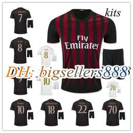 Wholesale best quality AC Milan soccer jersey home red kits BACCA KAKA away white BONAVENTURA AC Milan football men shirts