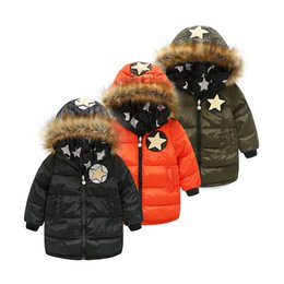 Children's clothing thickening warm down jacket long trend on both sides wearing a hooded girl down jacket fashion long boys and girls down
